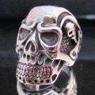 Fashion Stainless Steel Ring Size 9 Skull Biker Corpse il cranio anello ringe 3