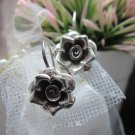 Thai Hill Tribe Earrings Pure Fine Silver Ethnic Cute Charms Flower R520