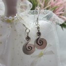 Thai Hill Tribe Earrings Pure Fine Silver Ethnic Little Cute Spiral R533
