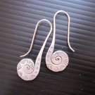 Fine Silver Earrings Karen Vintage Fashions Dangle Tribal Spiral Stick CS1312592