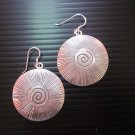 Fine Silver Earrings Karen Vintage Fashions Dangle Spiral Round Circle CS9125943