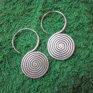 Fine Silver Earrings Hill Tribe Karen Fashions Dangle Big Spiral Roll CS51259244
