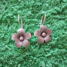 Fine Silver Earrings Hill Tribe Karen Fashions Dangle Little Flowers CS91259E111