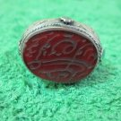 Islamic Ring 925 Sterling Silver Muslim Antique engraved Agate men craft 44604