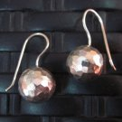 Fine Silver Earrings Hill Tribe Karen argento orecchini oorbellen Hammered balls