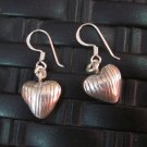 Fine Silver Earrings Hill Tribe Karen argento orecchini oorbellen Heart patterns