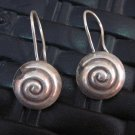Fine Silver Earrings Hill Tribe Karen argento orecchini oorbellen Spiral Shell