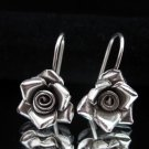 Thai Hill Tribe Earrings Fine Silver Dangle Schmuck Rosa Ohrringe Silber ER159