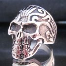 Fashion Stainless Steel Ring Size 9 Vintage Men Woman Skull Biker anello ringe 2
