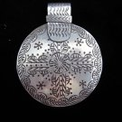 Fashion Pure Fine Silver Pendants Hill tribe Tribal Round Ancient Symbol