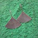 Fine Silver Earrings Hill Tribe Karen Fashions Dangle Swirl Flat Triangle BOHO