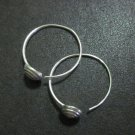 Orecchini d'argento Hill Tribe Fine Sterling Silver Earrings Hoop Spiral Bottom