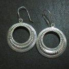 Orecchini d'argento Hill Tribe Fine Sterling Silver Earrings Ornamental Hoops
