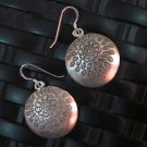 Fine Silver Earrings Hill Tribe Karen argento orecchini oorbellen Circle Retro
