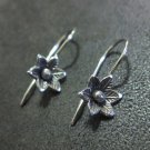 Orecchini d'argento Hill Tribe Fine Sterling Silver Earrings Flower small Artsy