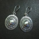 Orecchini d'argento Hill Tribe Fine Sterling Silver Earrings Bali Oval Ethnic