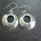 Handcrafted Earrings Pure Silver Jewelry Hammered Dangle Plata Aretes joyería