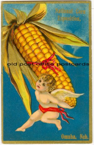 Omaha, NEB-National Corn Expo-Cupid-Large Ear of Corn 1909