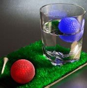 Rainbow Golf Ball Litecube-Glowing LED Ice Cube Party Light