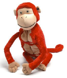 Zoobie Pets Monkey-Pillow-Blanket-Plush Toy