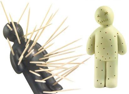 Grey Voodoo Toothpick Holder