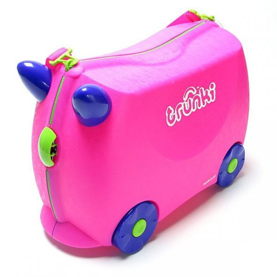 TRUNKI-Pink Trixie-Kids Pack Carry Tow & Ride Suitcase