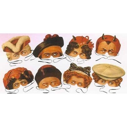 Madam Tussard's Collection of 8 Costume Party Masks