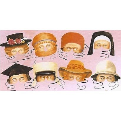 Victorian Collection of 8 Costume Party Masks