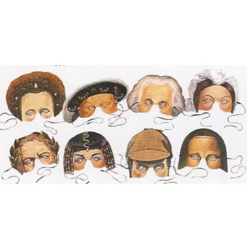 Important Characters of the last 1000 years Party Masks