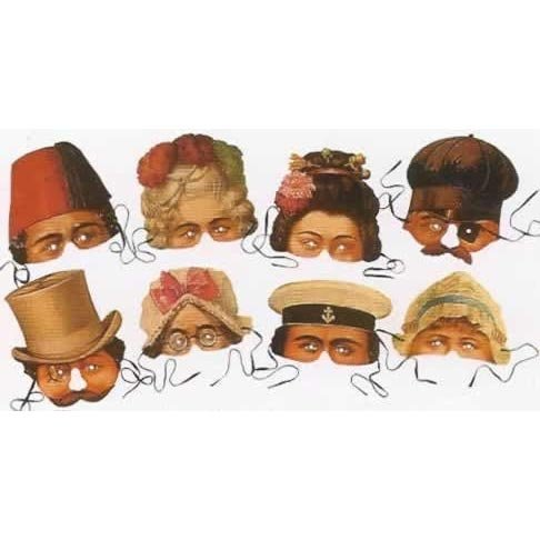 Victorian Revelers Collection Of 8 Costume Party Masks