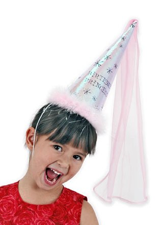 Fancy Pink Birthday Princess Cone