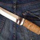 "Russian ZZOSS ZLATOUST Hunting knife ""N-5"" + sheath (Steel-40X10C2M, Birch bark)"