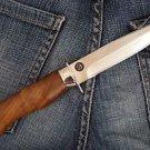 "Zlatoust Russian Hunting knife ""Peregrine-1""+ sheath (Steel-U10M, Wood handle)"