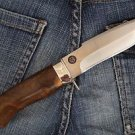 "Zlatoust Russian Hunting knife ""Beaver-1""+ sheath (Steel-U10M, Wood handle)"