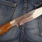 "Zlatoust Russian Hunting knife ""Tourist-1""+ sheath (Steel-U10M, Wood handle)"