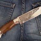 "Zlatoust Russian Hunting knife ""Elk-1""+ sheath (Steel-U10M, Wood handle)"
