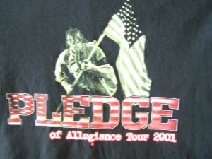 Pledge of Allegiance Tour 2001 T-Shirt: Metal, Nu Metal, Alternative Metal, Industrial Metal)