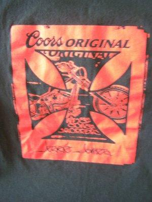 Coors Original Jesse James West Coast Choppers Pay Up Sucker! T-Shirt Sz. Lg