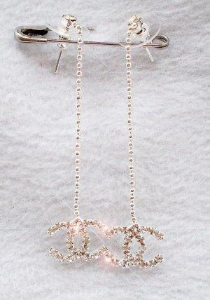 CC Rhinestone Dangling Earrings