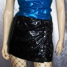 TRIPP SLICK BLACK PVC Micro Mini Skirt & Top PUNK GOTH Outfit~S.