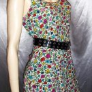 RARE Vintage 80s BETSEY JOHNSON Bold Floral Print DESIGNER Mini Dress L