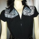 XOXO Python Print Black Vintage 90s Mini Dress Size 5