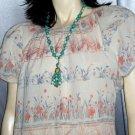 Vintage 70's Gauze PUFF SLV Peasant Dress ~BOHO HIPPIE CHIC L.