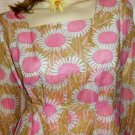 PRINCESS OF MOD Vintage 60's Pink Sunflower Party Dress NOS~XXXL
