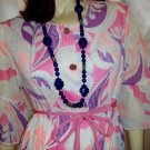 Vintage 60s 70's PSYCHEDELIC MOD Angel Sleeve Hippie Gown~XL