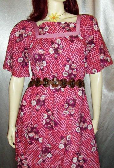 Boho Hippie Babydoll Tent Dress vintage 70s M/L