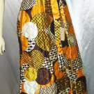 PSYCHEDELIC MOD Op Art Quilted Maxi Skirt  60s Hippie~ NWT M.