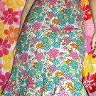 RETRO MOD NEON FLOWER POWER Flirty Ruffle Hem Skirt 70's Style S.