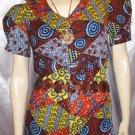 70's PATCHWORK PRINT  PRAIRIE GIRL DRESS  Puff Slv S. boho hippie