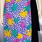 RARE 70s 80s PSYCHEDELIC Floral Polyester DISCO WRAP SKIRT West Germany